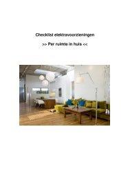 Checklist elektravoorzieningen >> Per ruimte in huis