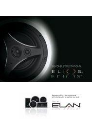 elios architectural speakers