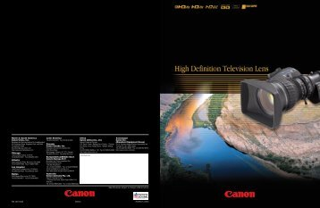 HD general catalog (PDF file) - Canon