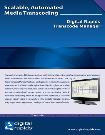 digital_rapids_transcoding.pdf - Digital Rapids *Transcode Manager ...