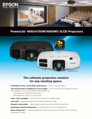PowerLite® 4650/4750W/4855WU 3LCD Projectors The ... - Epson