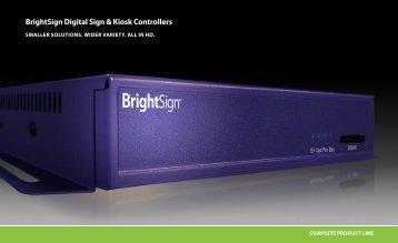 BrightSign Digital Sign & Kiosk Controllers