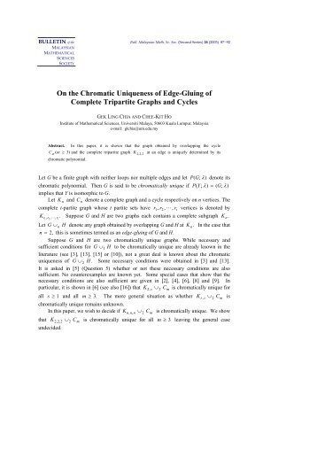 On the Chromatic Uniqueness of Edge-Gluing of Complete Tripartite ...