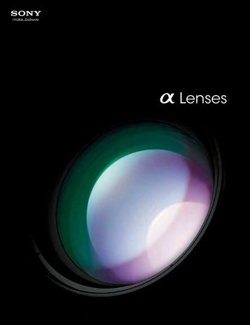 a Lenses - Sony