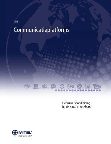 5360 IP-telefoon – Gebruikershandleiding - Mitel Edocs