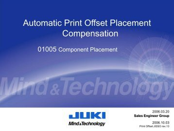 Automatic Print Offset Placement Compensation 01005 Components