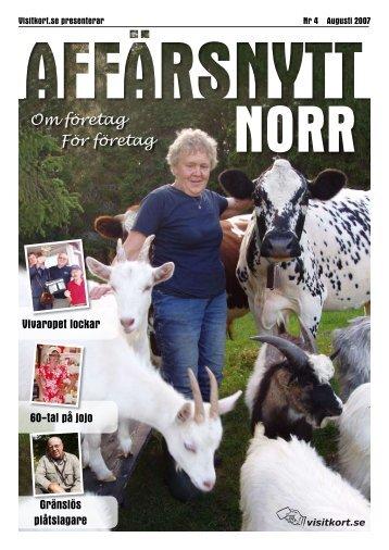 Augusti 2007 - Affärsnytt Norr