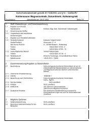 Sicherheitsdatenblatt gemäß 91/155EWG und §14 ... - Raiffeisen