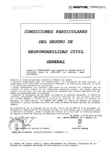 Poliza de responsabilidad civil garantia extendida for Seguro responsabilidad civil autonomos obligatorio