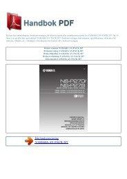 Bruker manual YAMAHA AV-PACK 207 - HANDBOK PDF