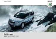 ŠKODA Yeti INSTRUKTIONSBOK - Media Portal - Škoda Auto