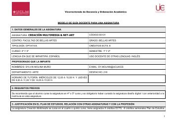 Guia CreacionMultimedia 09-10 SMM - Facultad de Bellas Artes
