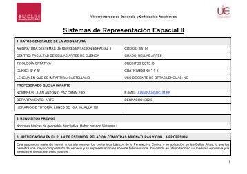Guía Sistemas RepresentaciónII 09-10 JPC - Facultad de Bellas Artes