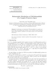 Holomorphic Distribution of CR-Submanifolds of a Complex ...