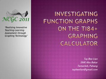 Investigating Function Graphs on the TI84+ Graphing Calculator