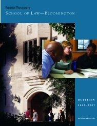 school of law —bloomington - AIM @ IU Home - Indiana University