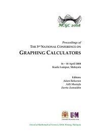 graphing calculators - Universiti Sains Malaysia, Penang - USM