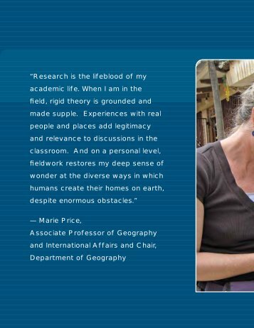 Research is the lifeblood of my academic life - Elliott School of ...