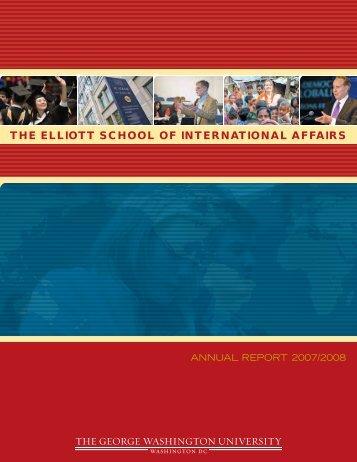 THE ELLIOTT SCHOOL OF INTERNATIONAL AFFAIRS