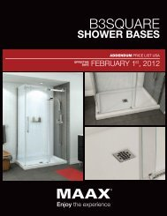 B3Square Shower Bases price list
