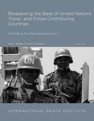 Broadening the Base of United Nations Troop - Elliott School of ...