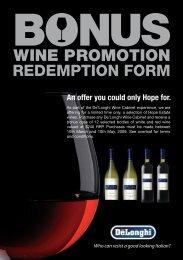 bonus wine promotion - Australia