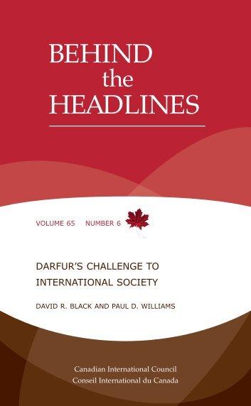 Darfur's Challenge to International Society - Elliott School of ...