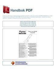 Bruker manual FLYMO TURBO 400 - HANDBOK PDF