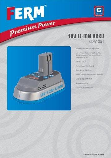 18V LI-ION Akku - FERM.com
