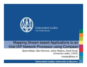 Mapping Stream based Applications to an Intel IXP Network ...