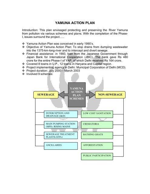 YAMUNA ACTION PLAN pdf - GANGAPEDIA