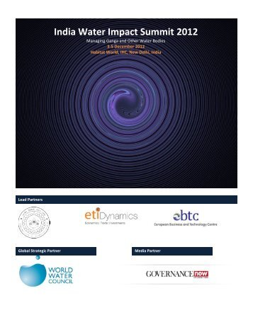 India Water Impact Summit 2012 - GANGAPEDIA - Indian Institute of ...