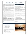 India Water Impact Summit 2012 - GANGAPEDIA - Indian Institute of ... - Page 3