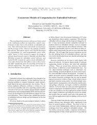 Concurrent Models of Computation for Embedded Software