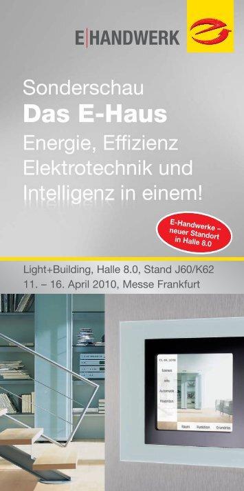 Light+Building, Halle 8.0, Stand J60/K62 11. ? 16. April 2010, Messe ...