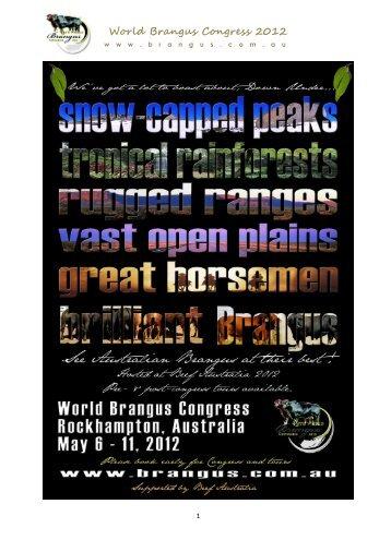 World Brangus Congress 2012 - Australian Brangus Cattle Association