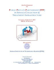One Day Workshop on Public Private Partnership ... - GANGAPEDIA