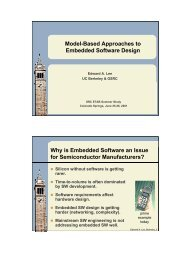 Model-Based Approaches to Embedded Software Design Why is ...