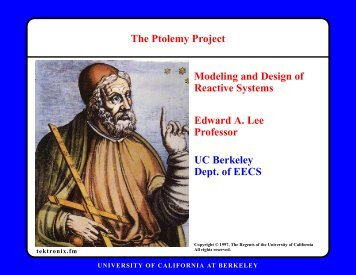 full viewgraphs - Ptolemy Project