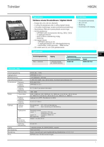 H8GN Datablad