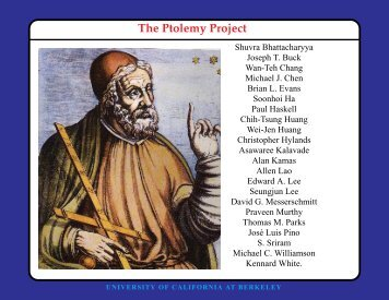 Four-viewgraph summary of the Ptolemy Project