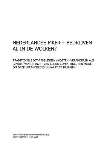 nederlandse mkb++ bedrijven al in de wolken? - DSpace at Open ...