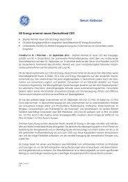 GE Energy ernennt neuen Deutschland CEO - Social Media Release