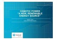 "osmotic power ""a new, renewable energy source"" - Statkraft"