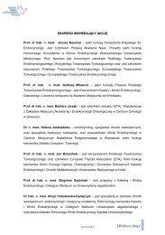 informacje na temat ekspertów zaangażowanych w kampanię