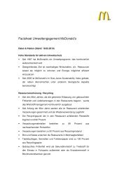 Factsheet Umweltengagement McDonald's - Social Media Release