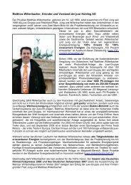juwi Portrait Matthias Willenbacher - Social Media Release