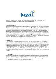 juwi Kurzbeschreibung - Social Media Release