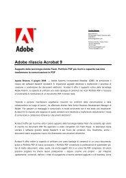 Adobe rilascia Acrobat 9 - Social Media Release