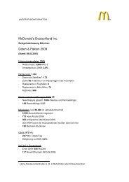 McDonald's Deutschland Inc. Daten & Fakten 2009 - Social Media ...